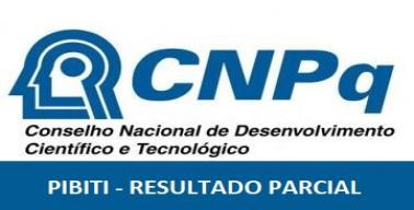 Resultado Parcial PIBITI - UFES 2020