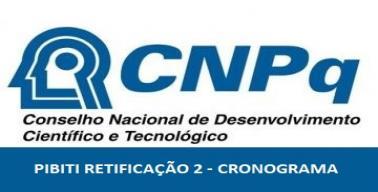 Retificação Cronograma PIBITI 2020